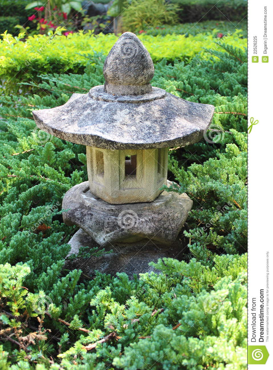 small house garden decorating royalty free stock photo