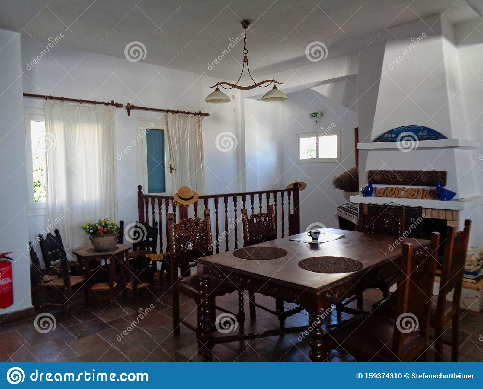 A Small House In Greece Stock Photo Image Of Dining 159374310