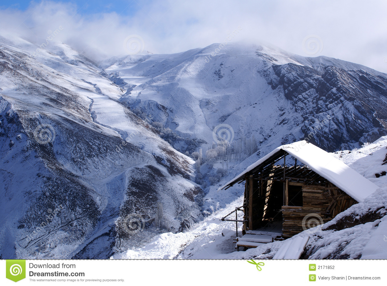 Small house in mountain stock photo image of high mount for House mountain
