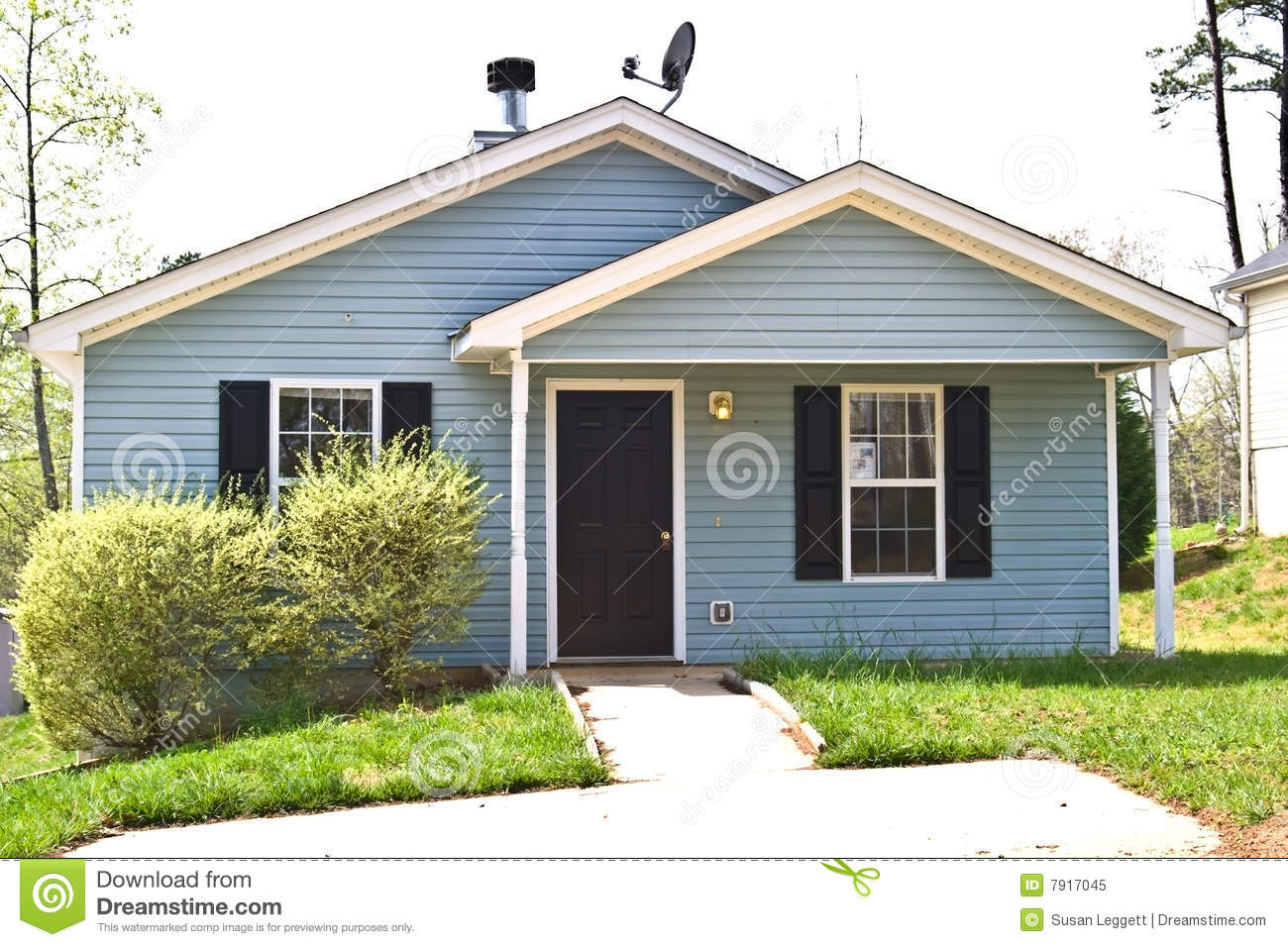 Small House For Sale Rent Royalty Free Stock Photo Image