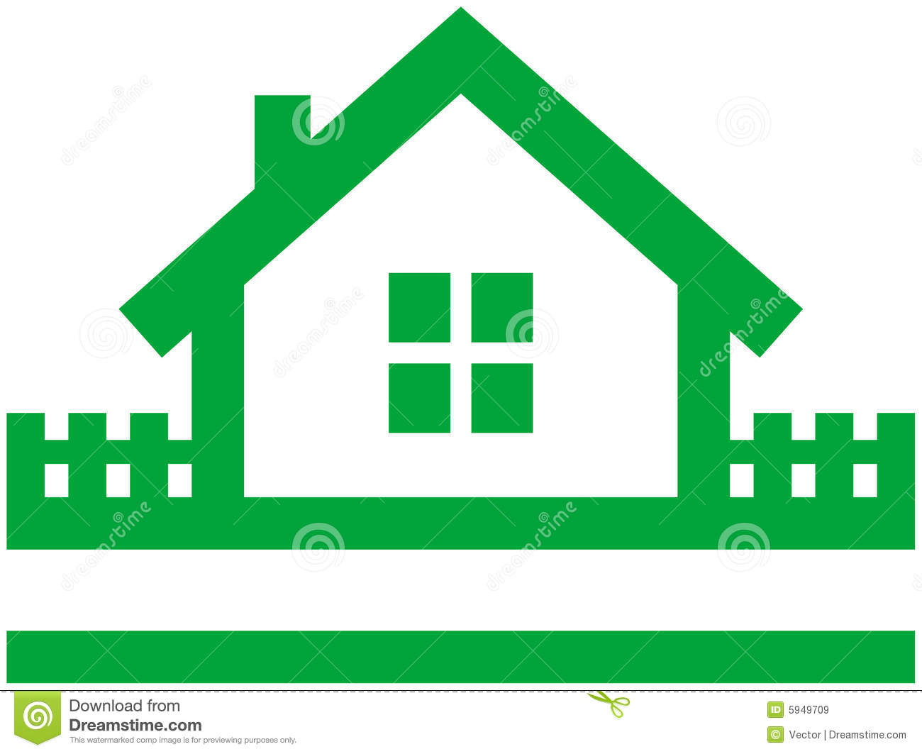 Small House Vector Logo Royalty Free Stock Images Image