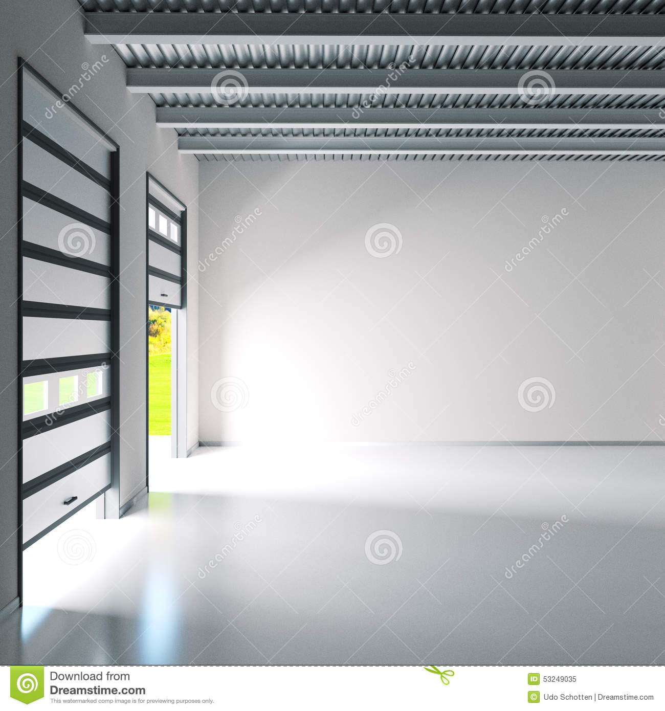 Small industry hall with roller doors Royalty Free Stock Photo  Glass  Waiting Shed Stock Photo. Small Roller Doors For Sheds