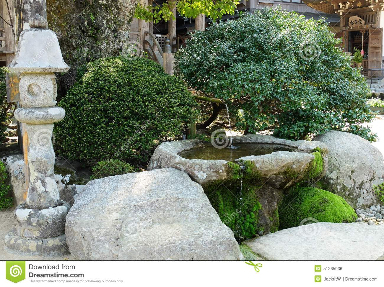 Small Japanese Style Garden Editorial Photo Image 51265036