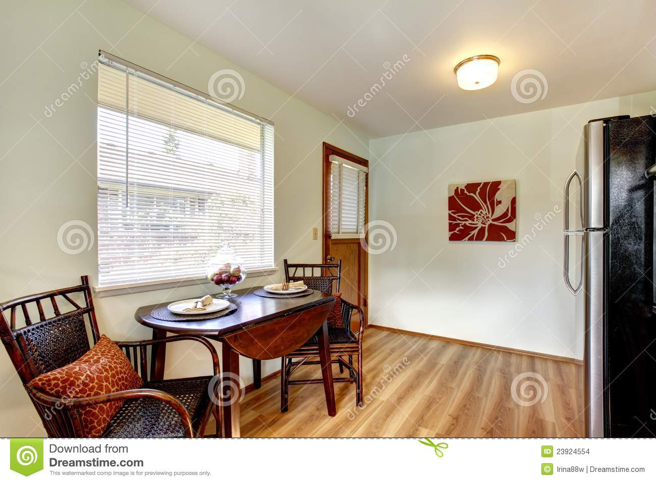 Small kitchen eating table area interior stock images for Small eating table