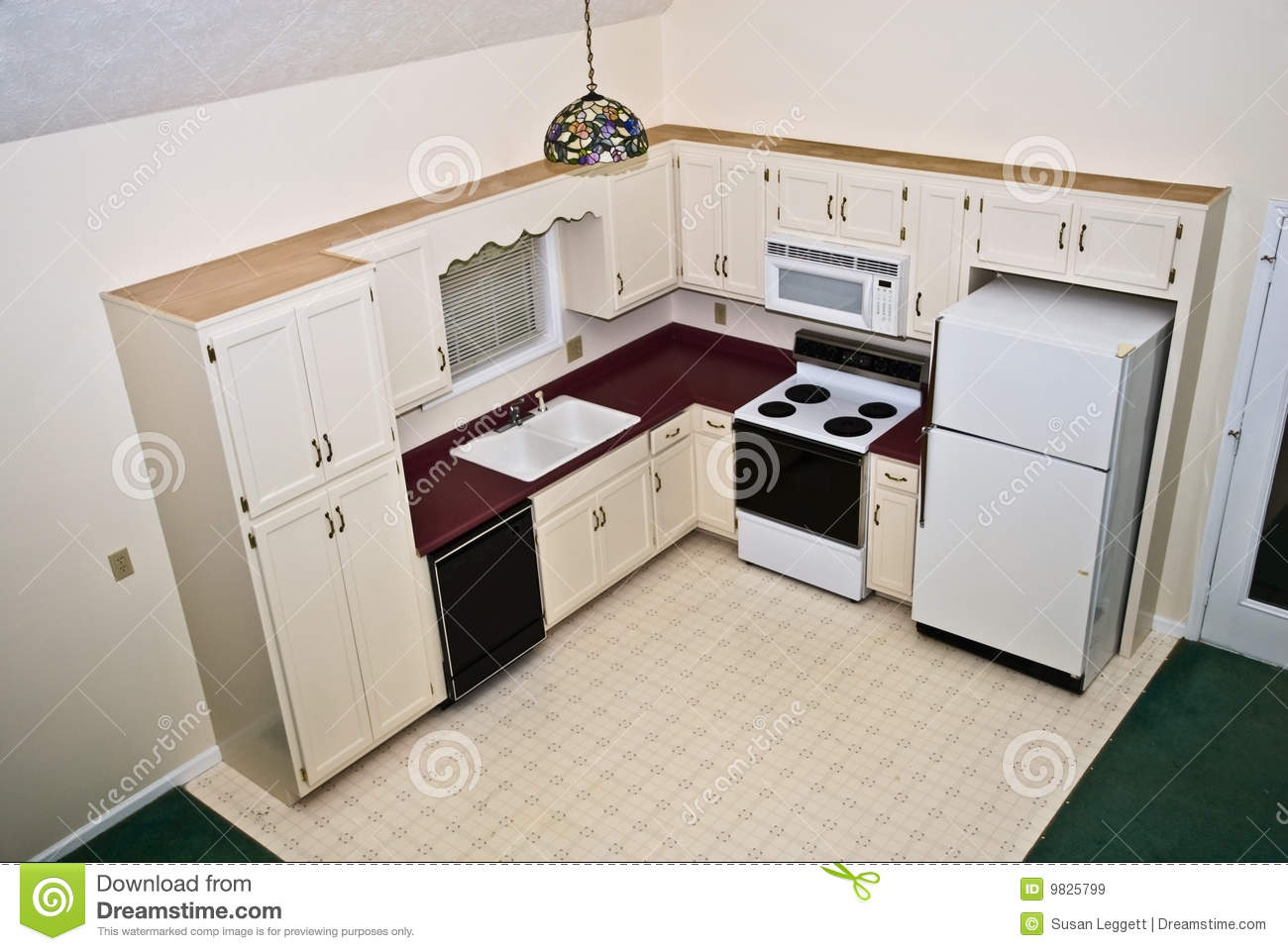 Small kitchen home perspective royalty free stock images for Kitchen designs that stand the test of time