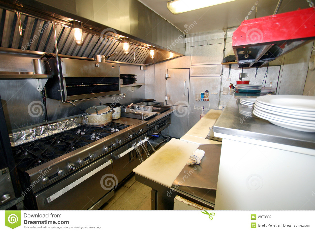 Small Kitchen In A Restaurant Stock Photo Image Of Pans Fine 2973832