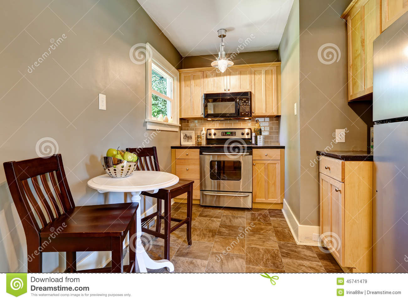 Small Kitchen Room Interior Stock Photo Image 45741479