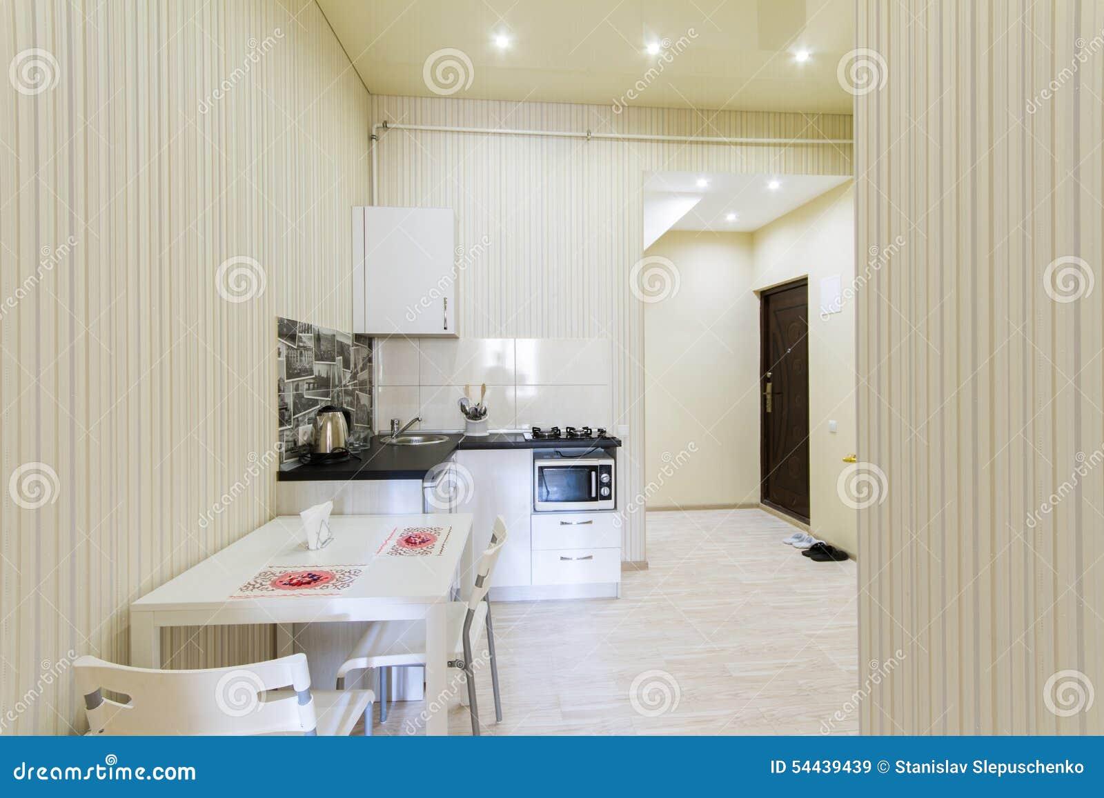 Small Kitchen For Studio Apartment Small Kitchen In A Studio Apartment Stock Photo Image 54439439
