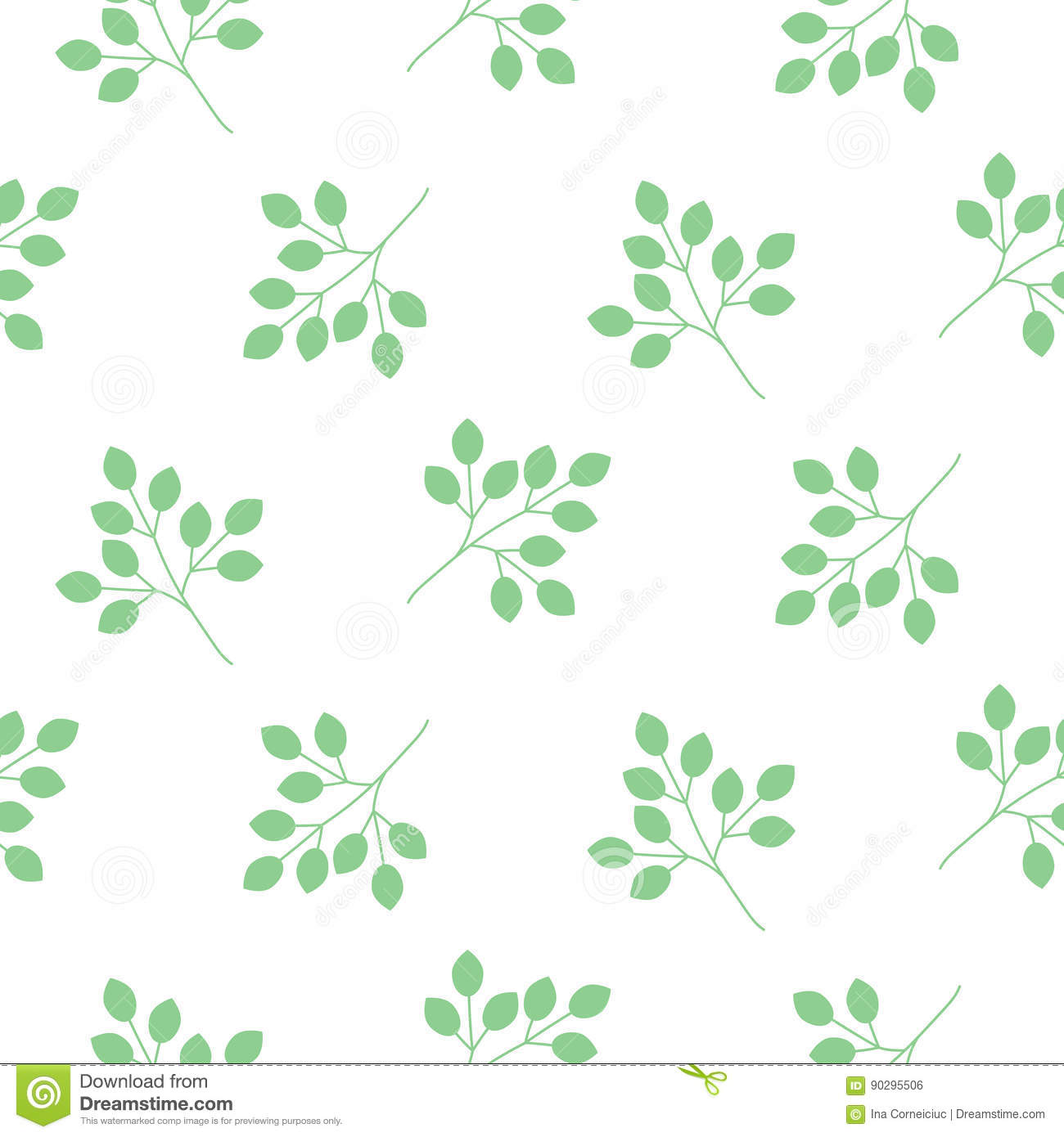 Small Leaves Seamless Vector Pattern