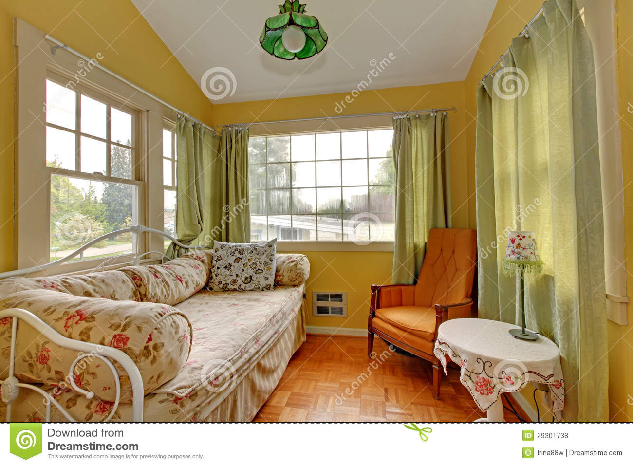 Royalty Free Stock Photo. Download Small Living Room With Sleeping ... Part 61