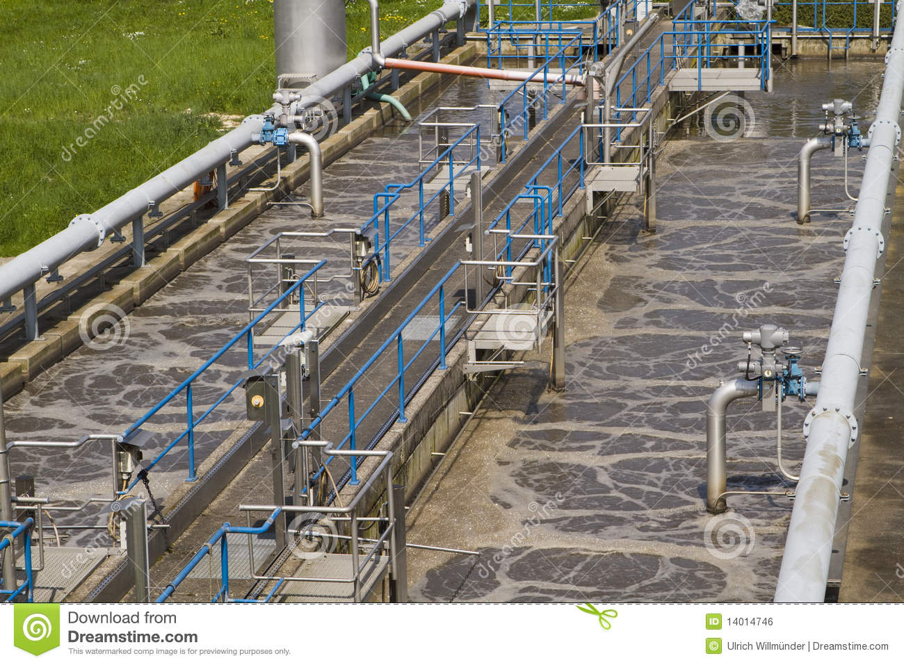 Small local waste water treatment facility