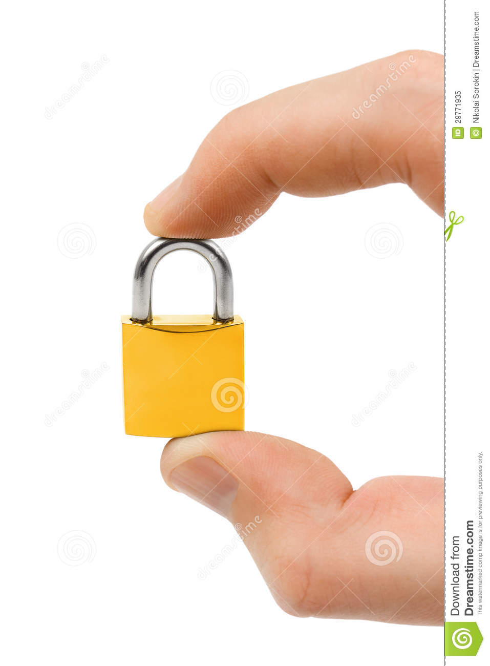 Small Lock In Hand Royalty Free Stock Photo