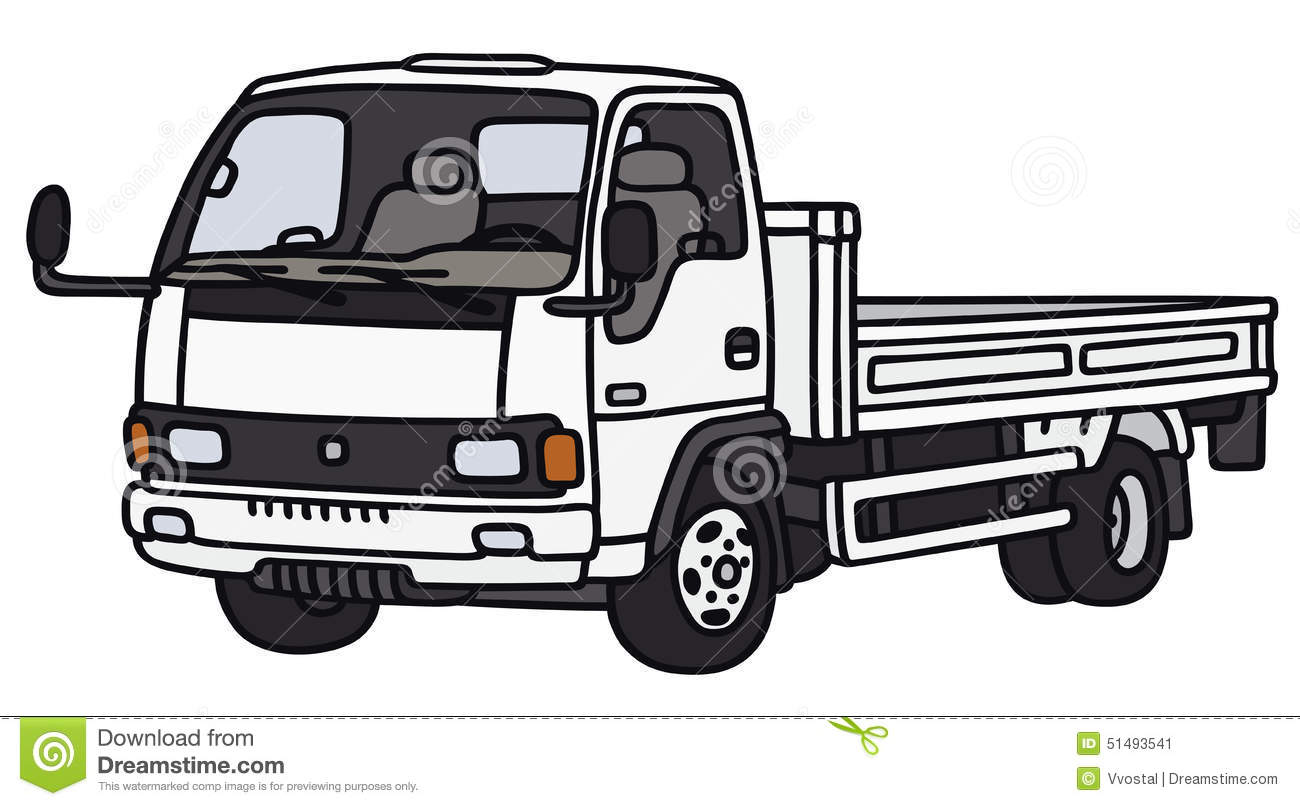small lorry truck stock vector   image 51493541