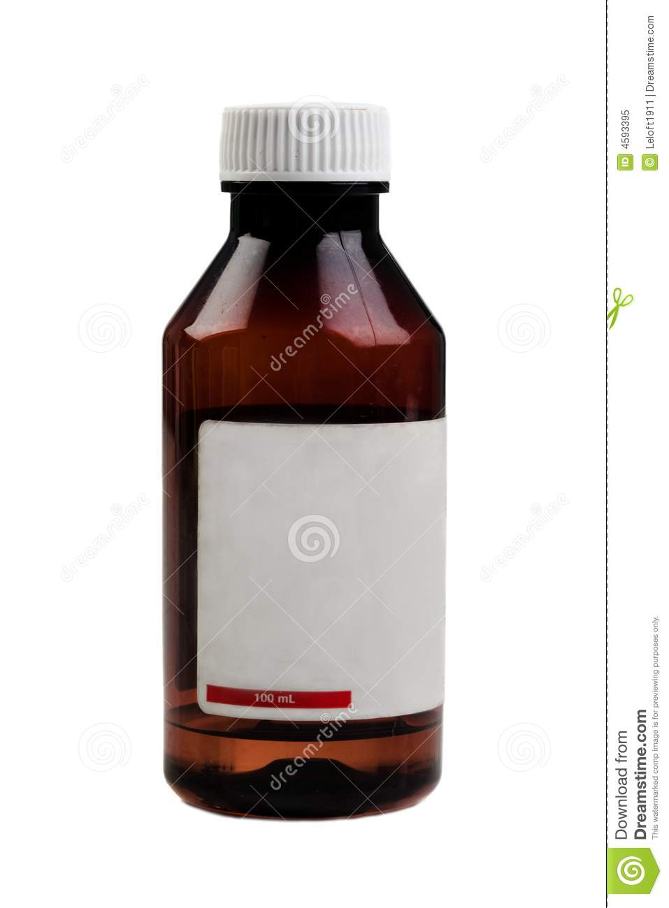 Photos Of Small Living Rooms Decorated: Small Medical Bottle On A White Background Royalty Free
