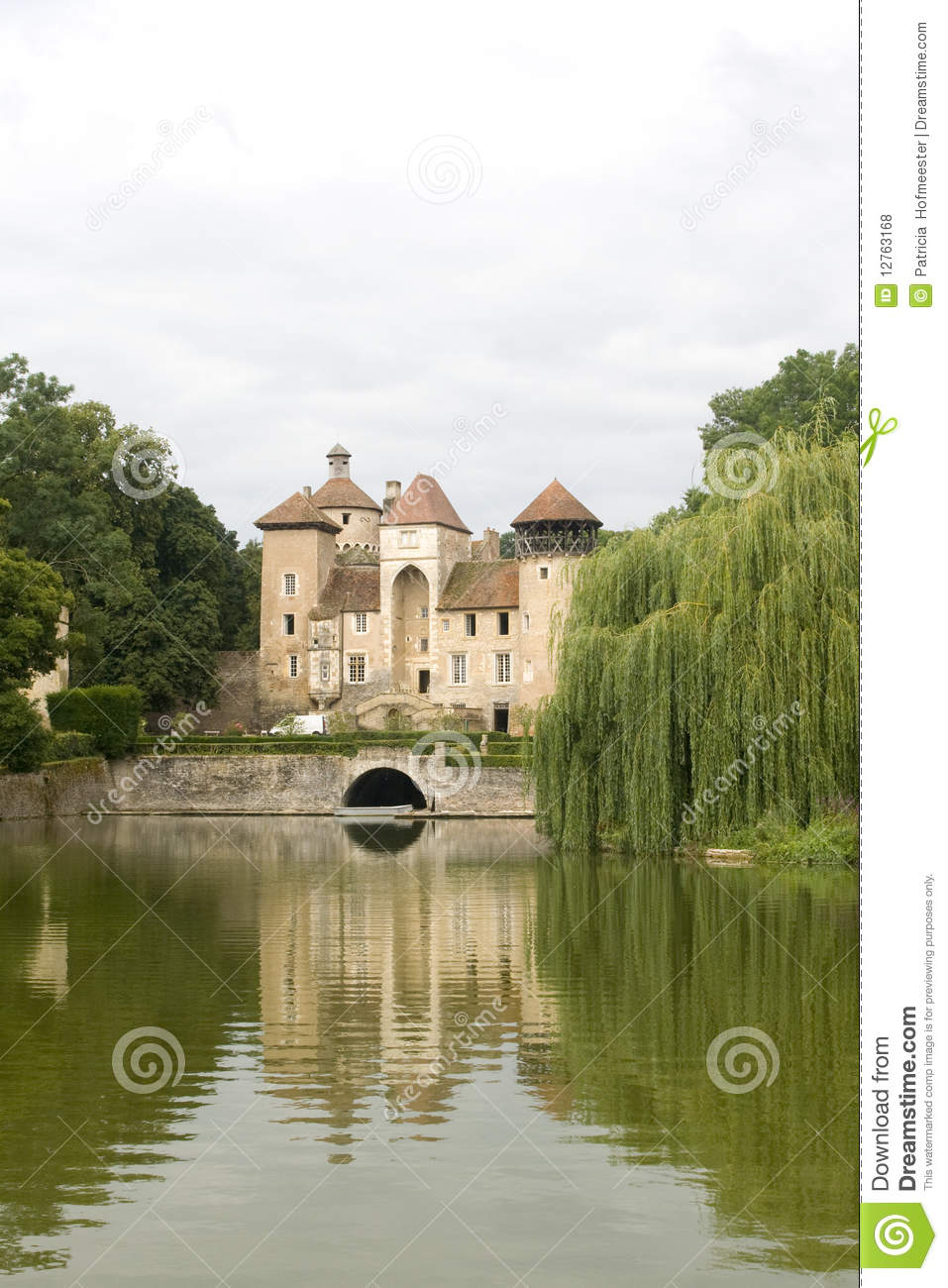 Small medieval castle in france royalty free stock photos for Small chateau