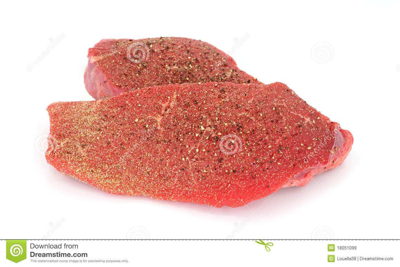 Small And Medium Round Tip Beef Steaks Royalty Free Stock ...