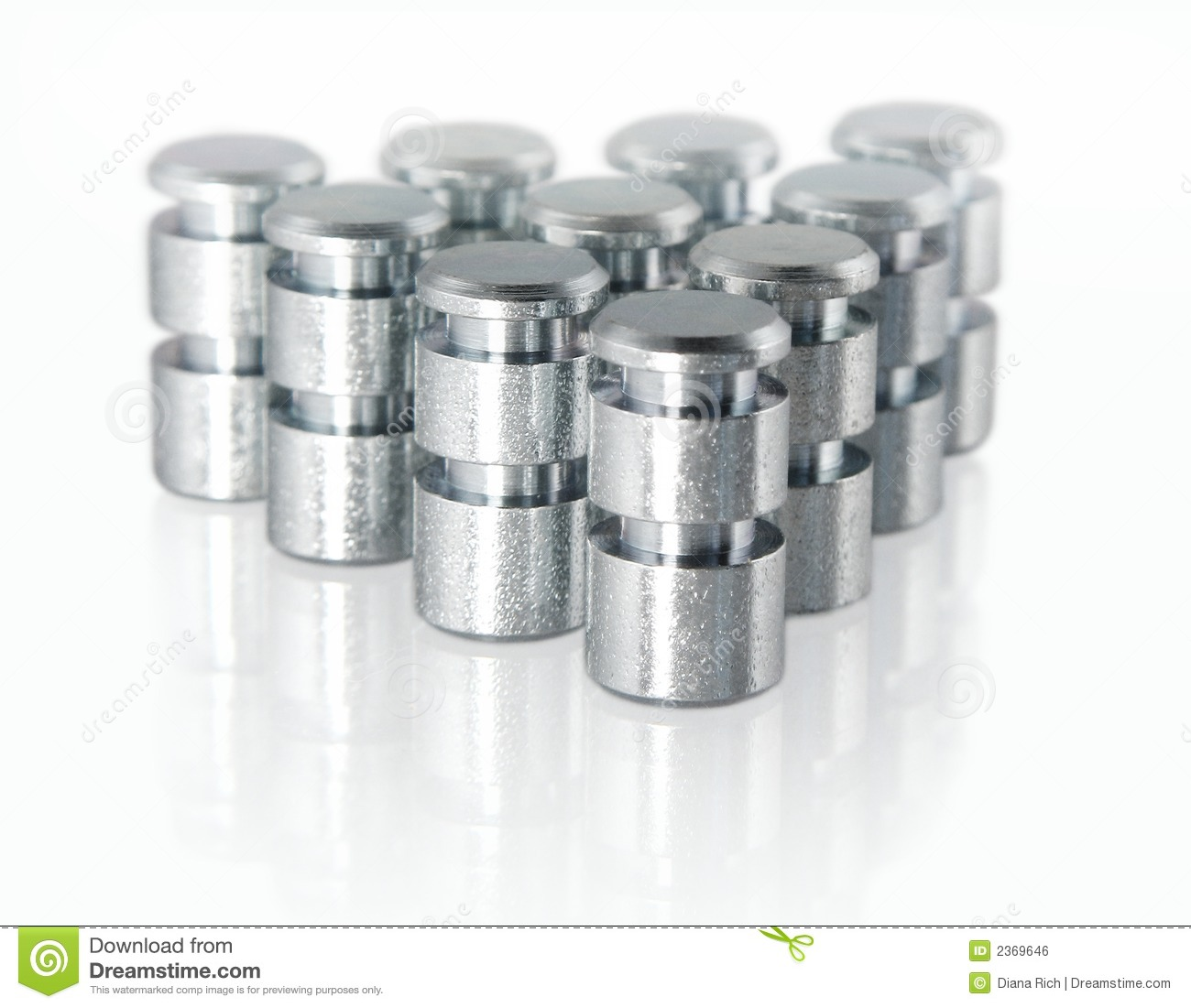 Small Aluminum Parts : Small metal parts stock photo image of machinery pegs