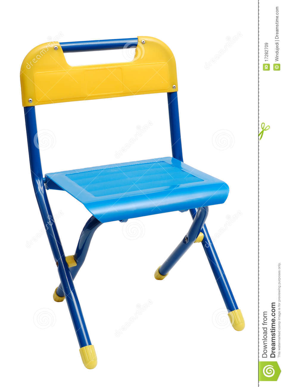Small Metallic Folding Chair Royalty Free Stock Image