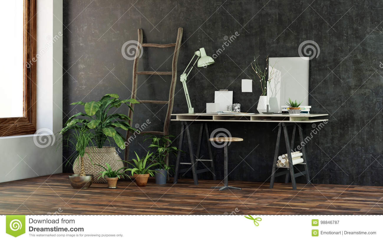 Astonishing Small Modern Desk Or Writing Table Stock Illustration Gmtry Best Dining Table And Chair Ideas Images Gmtryco
