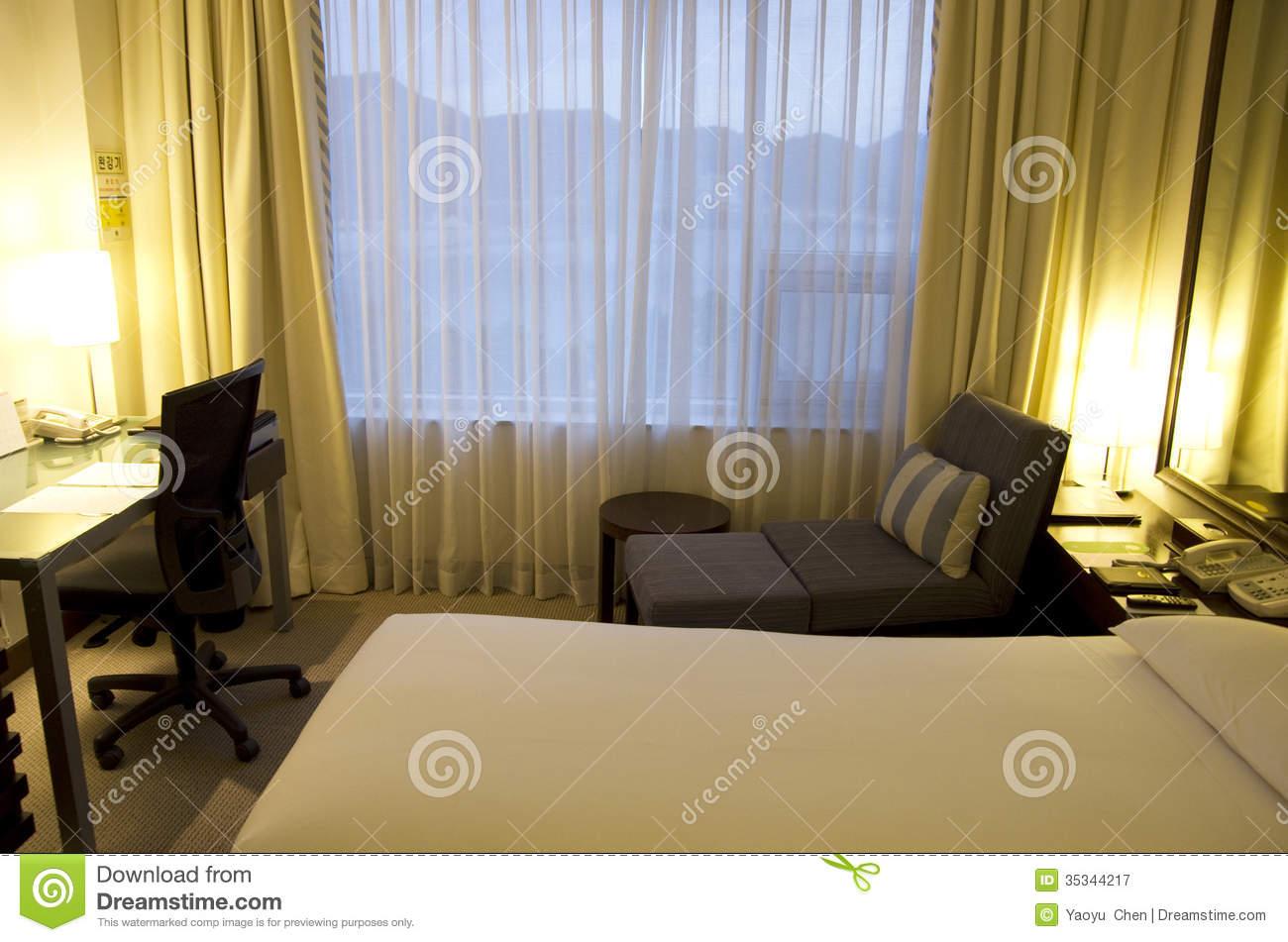 Small modern hotel room beds royalty free stock for Great small luxury hotels