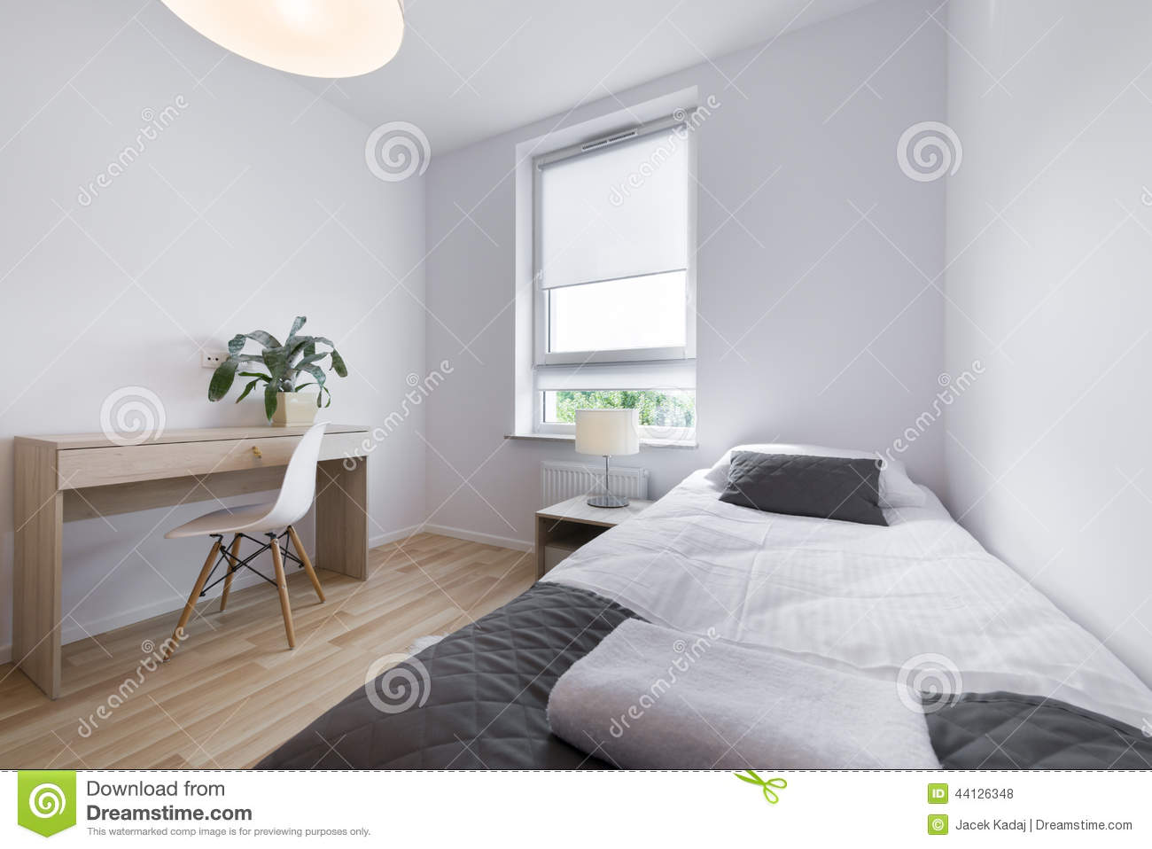 Small modern sleeping room interior design stock photo for Sleeping room interior design