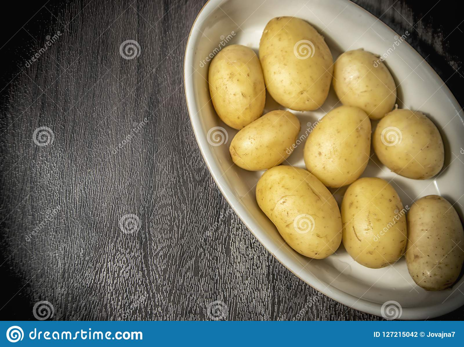 New Potato in a Bowl stock photo  Image of skin, nutrition