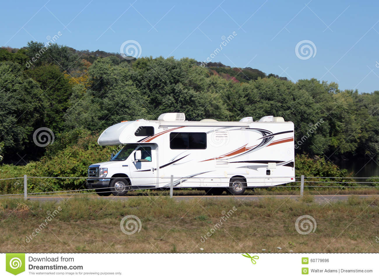 Small Motor Home Recreational Vehicle Stock Photo Image