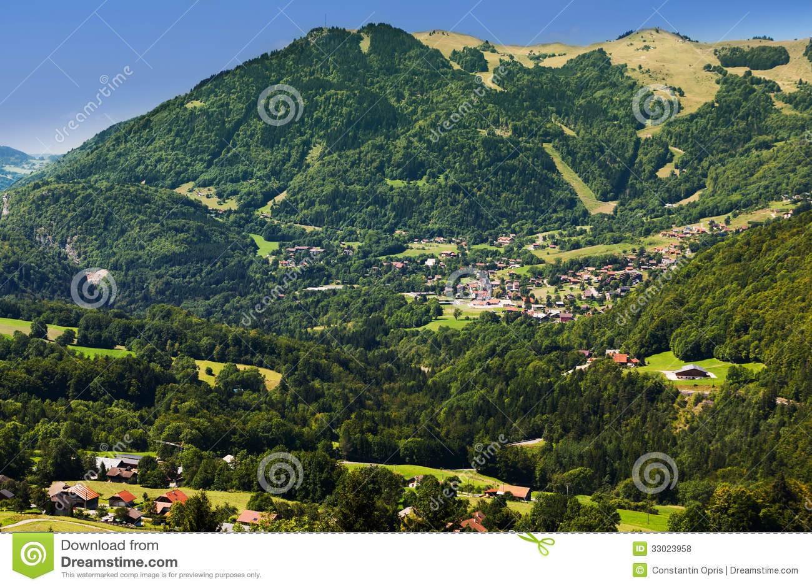 Small mountain village in haute savoie royalty free stock - Meubles de montagne haute savoie ...