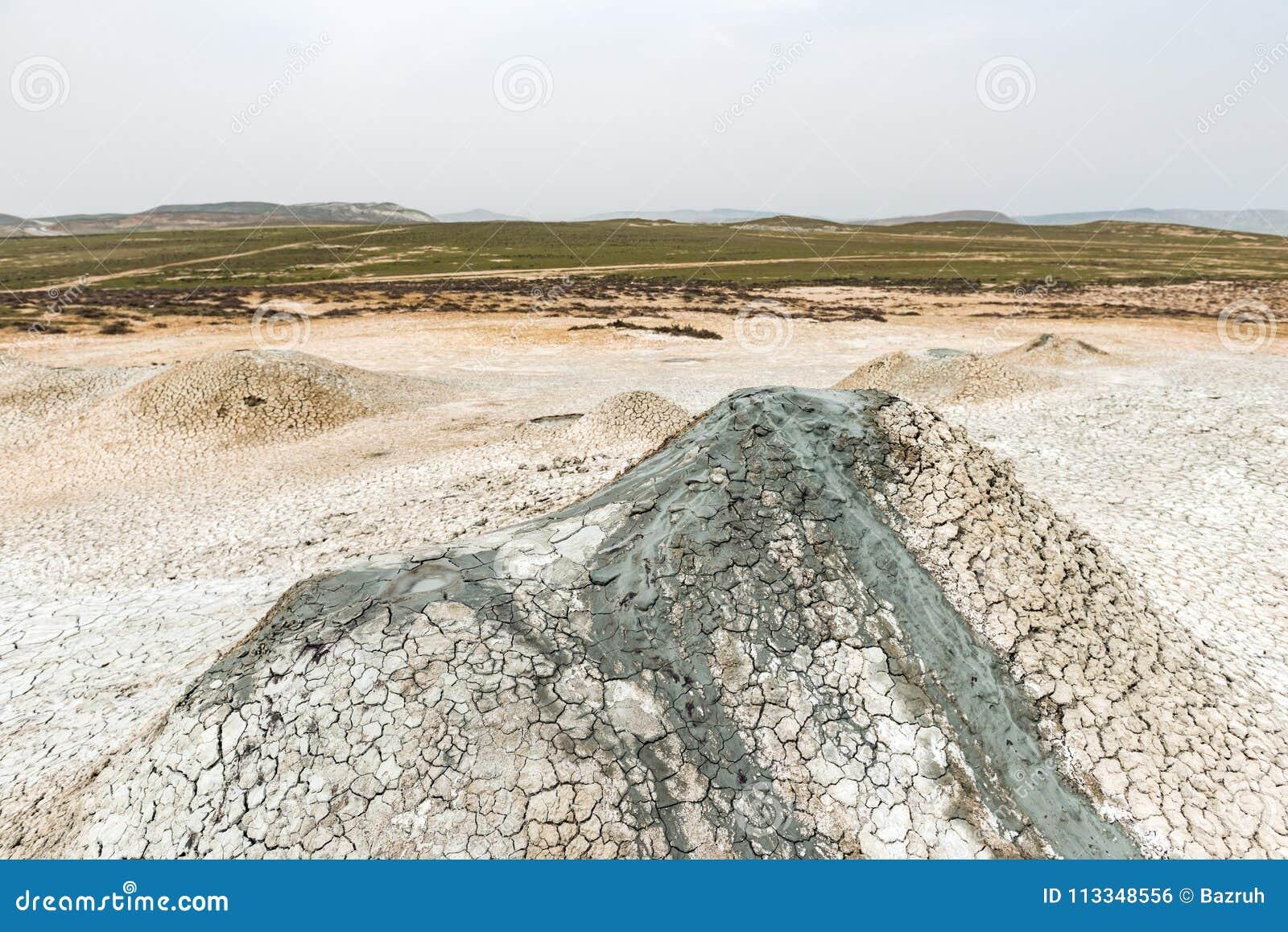 A small mud volcano