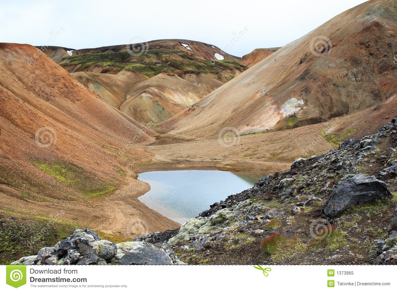 Small natural glacial pond royalty free stock photo for Small natural pond