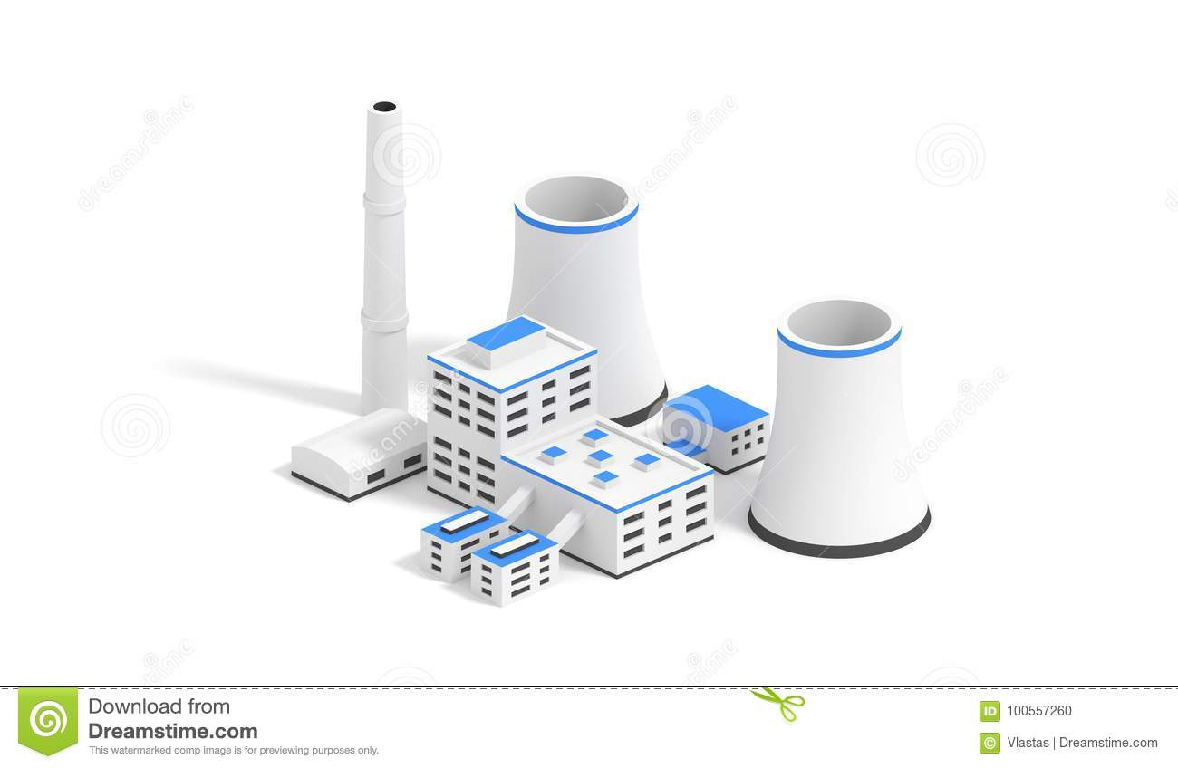 Nuclear Power Plant Stock Illustration Of Energy With Diagram