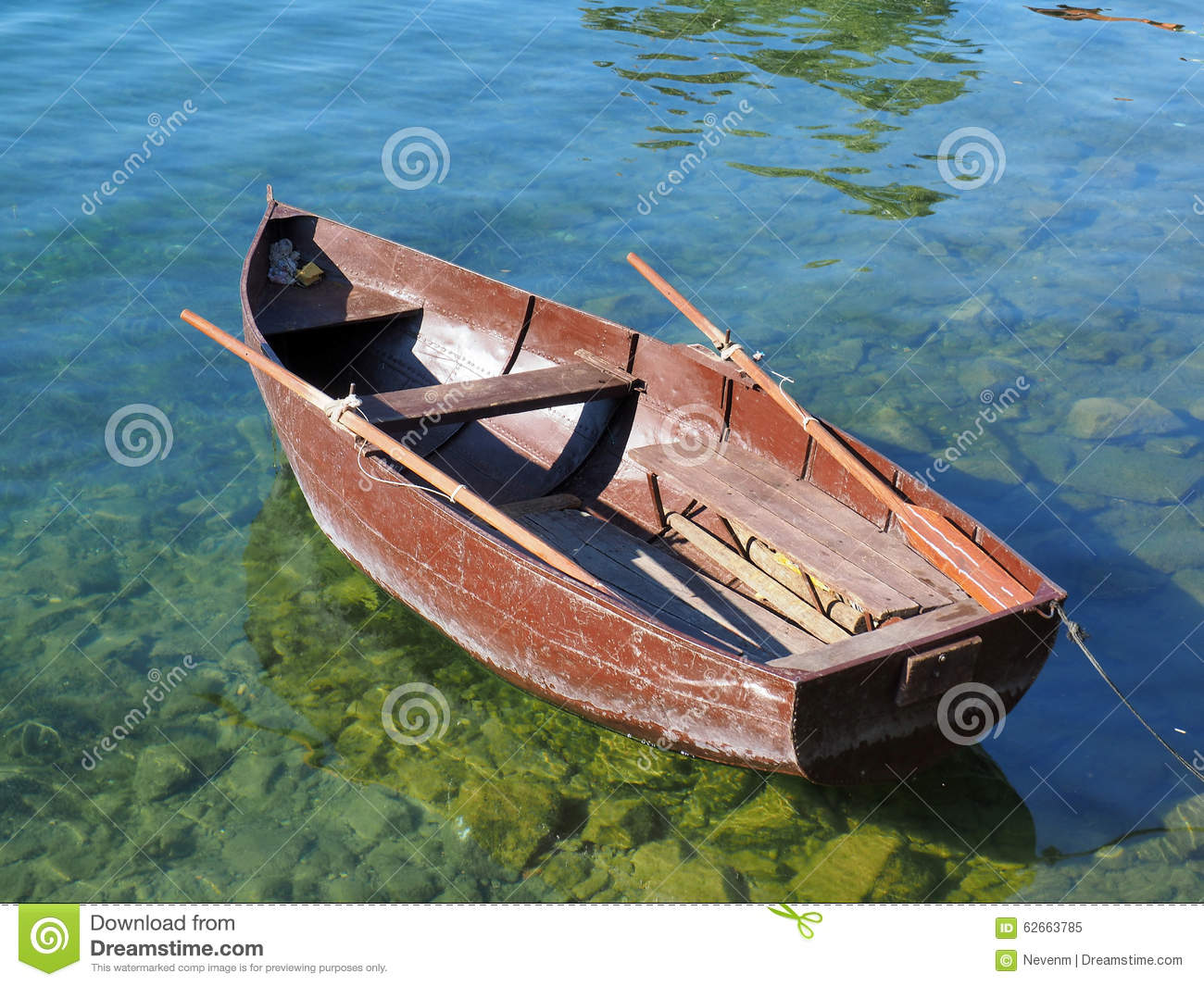 Small Boat In Shallow Water In Brittany France Royalty ...