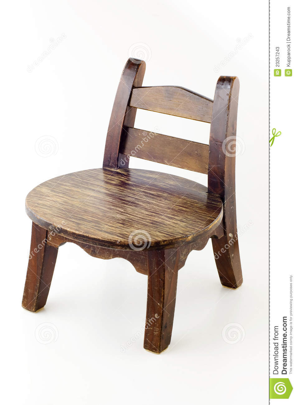 Charmant Old Wooden Chair. Small Chair.
