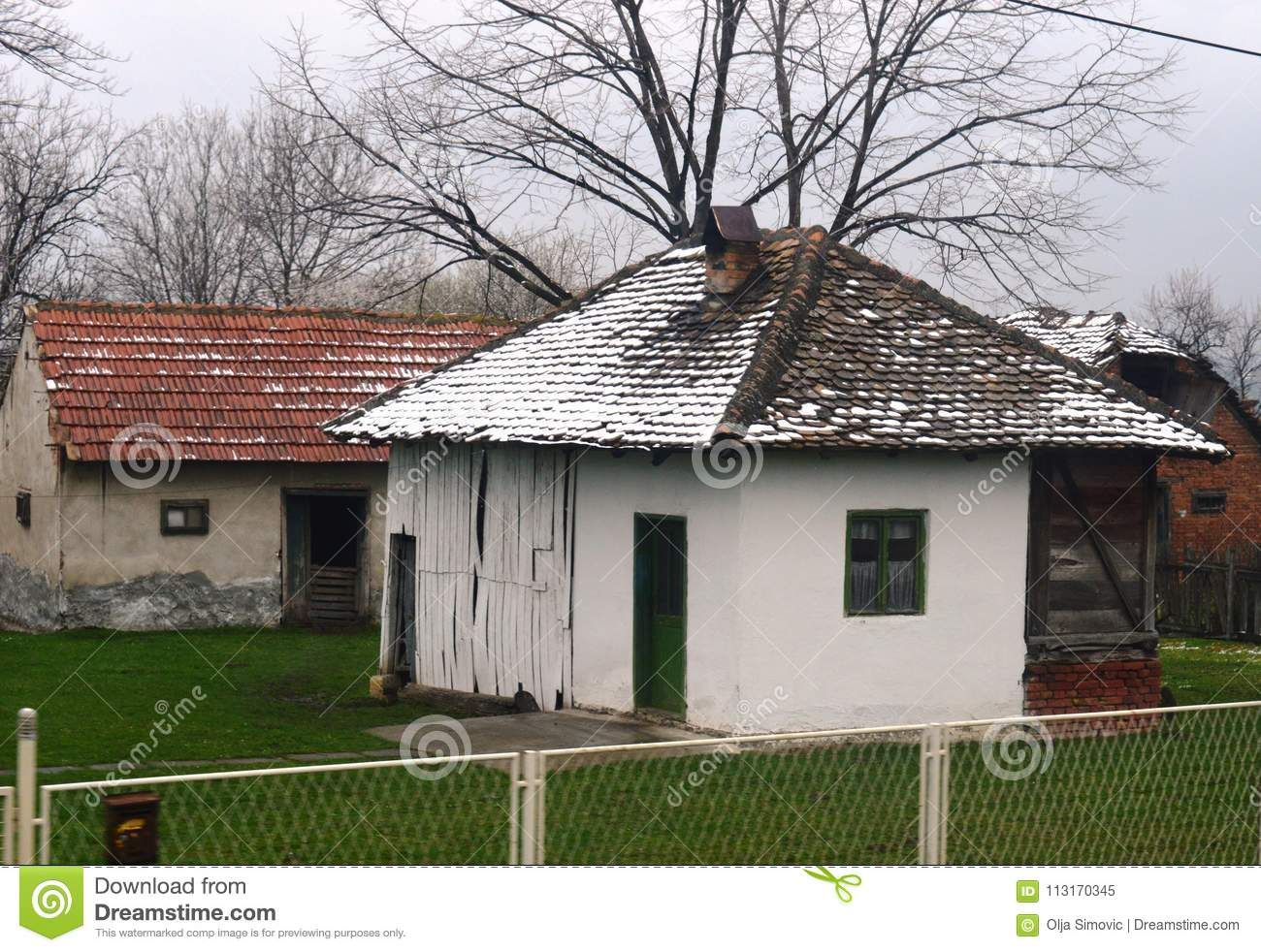 Small Old House Stock Image Image Of Landscape Grass 113170345