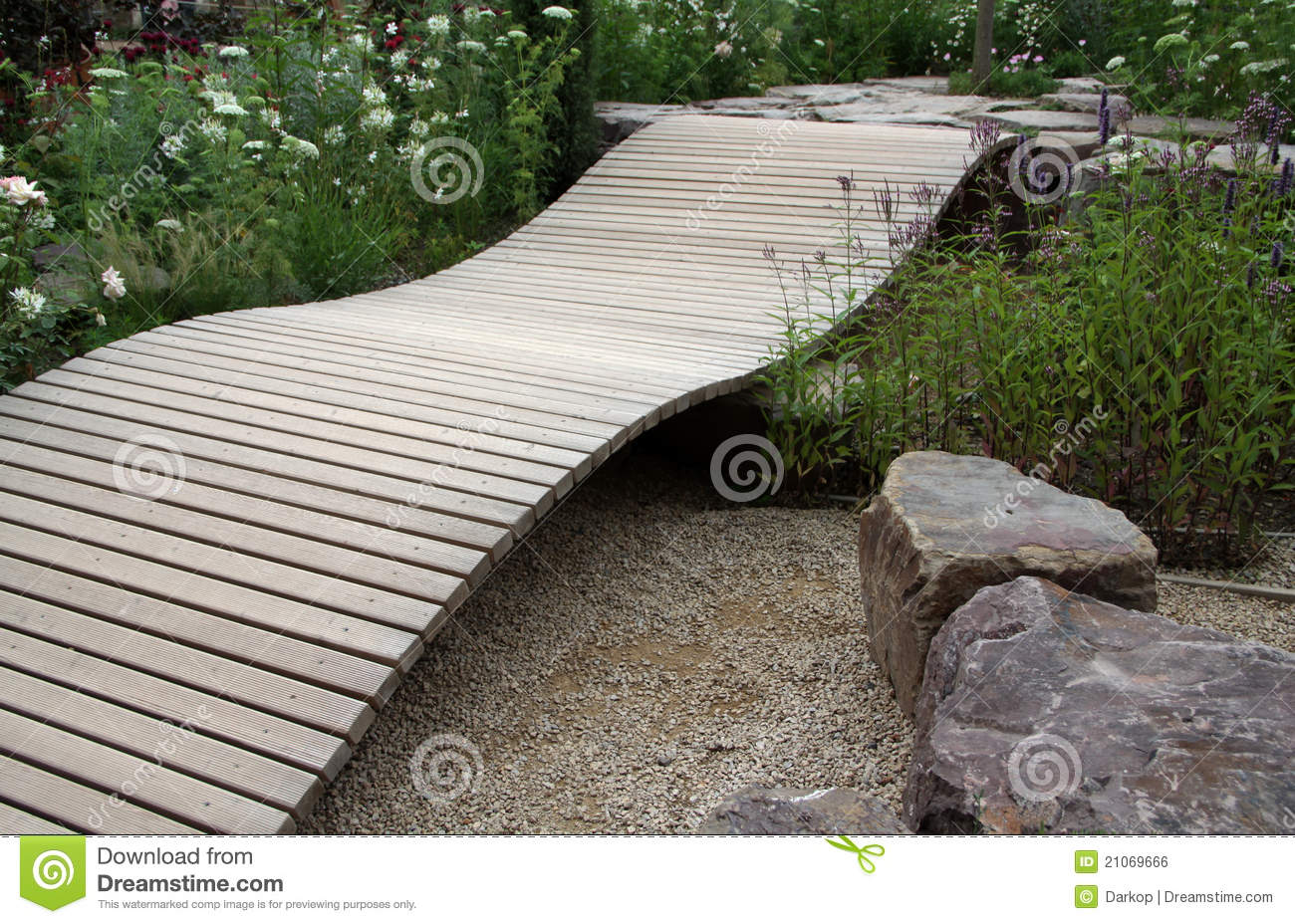 Small Ornamental Garden Bridge Stock Photo Image 21069666