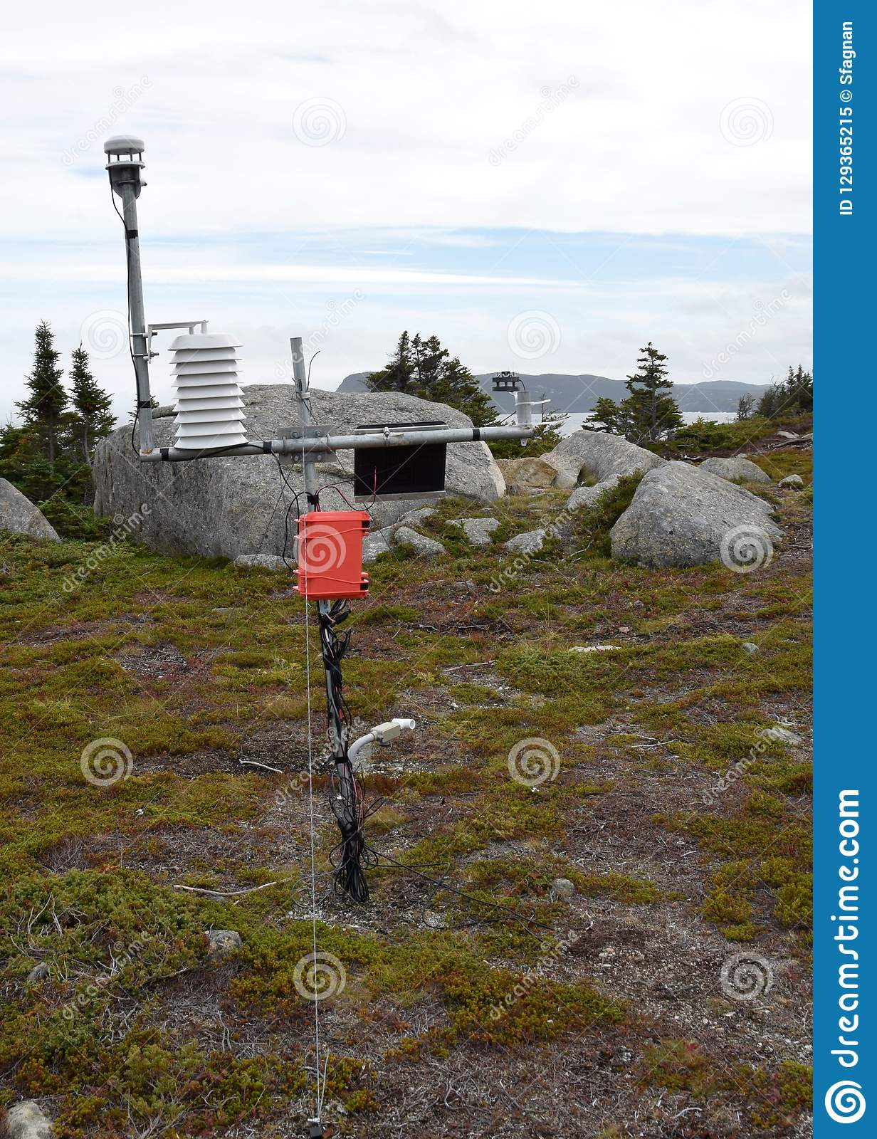 Outdoor Weather Station On The Hill Stock Image - Image of ...