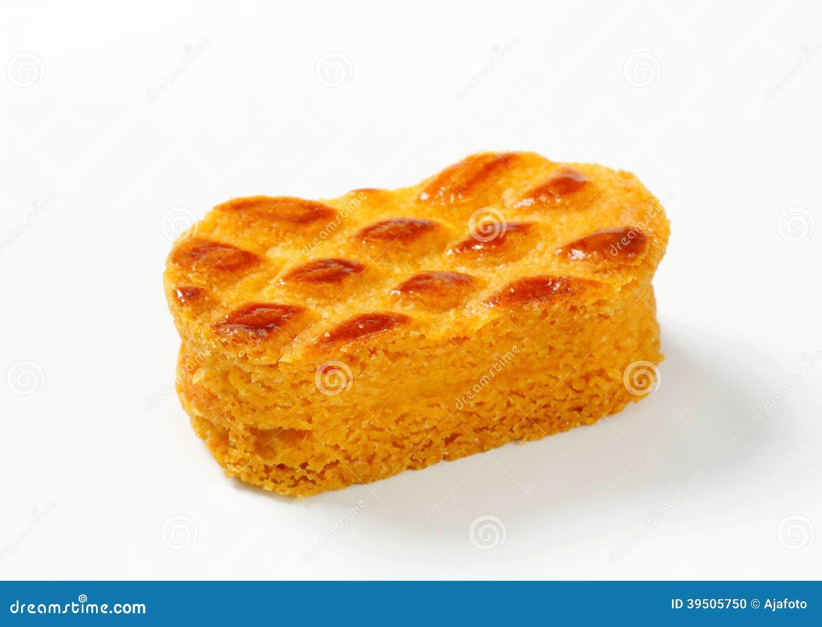 Small oval-shaped cake