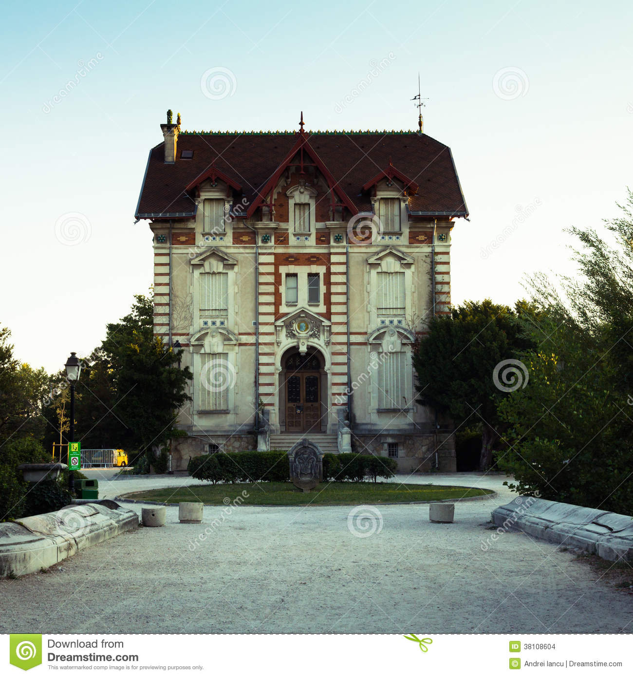 Small Palace Stock Photo Image Of Residence France