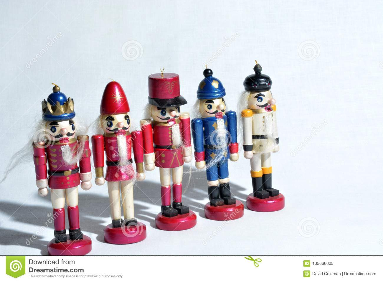 download line of nutcracker christmas decorations stock image image of decoration figure 105666005