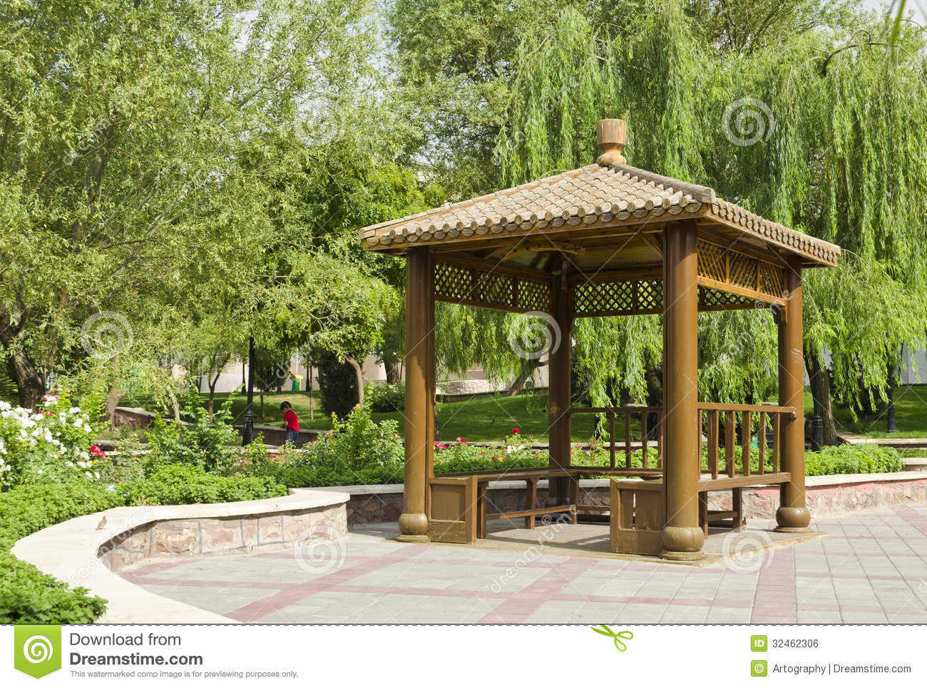 Small Pavilion Stock Photo Image Of Place Bench Metal