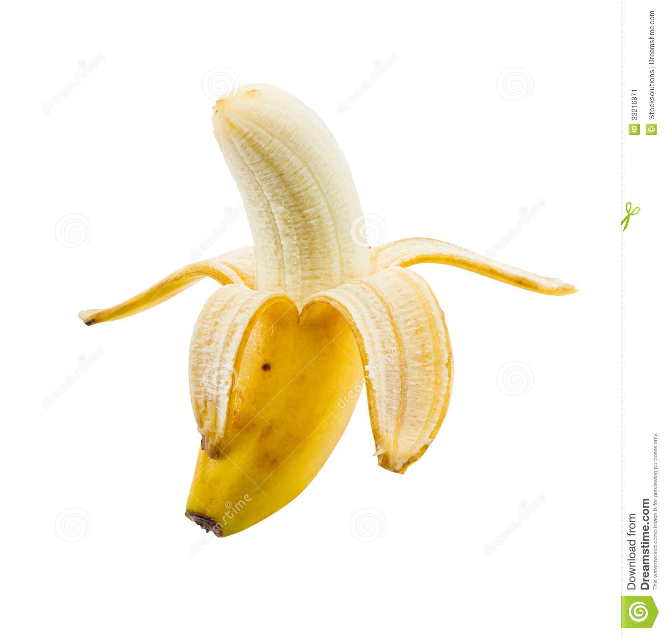 Small Peeled Banana Stock Image - Image: 33216871: https://www.dreamstime.com/stock-image-small-peeled-banana-lunch-box-sized-isolated-white-background-image33216871