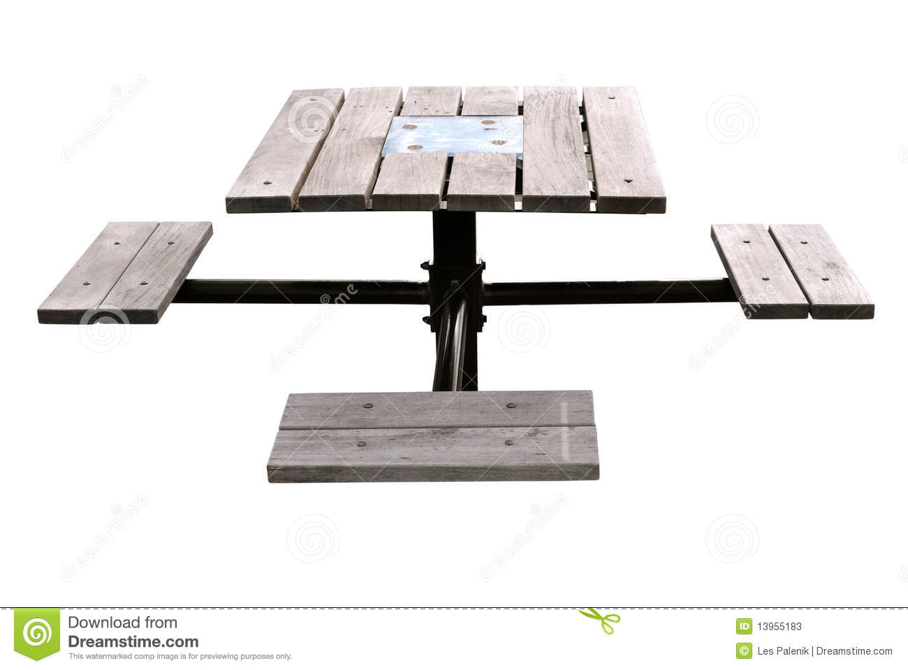 Small Picnic Table And Seats Stock Image Image 13955183
