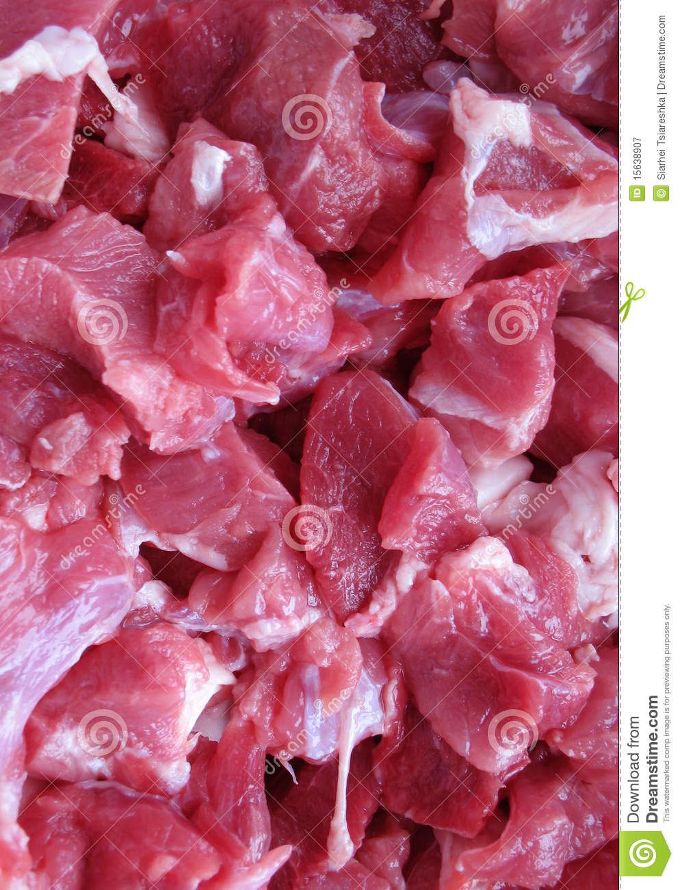 Small Pieces Of Meat Royalty Free Stock Photography