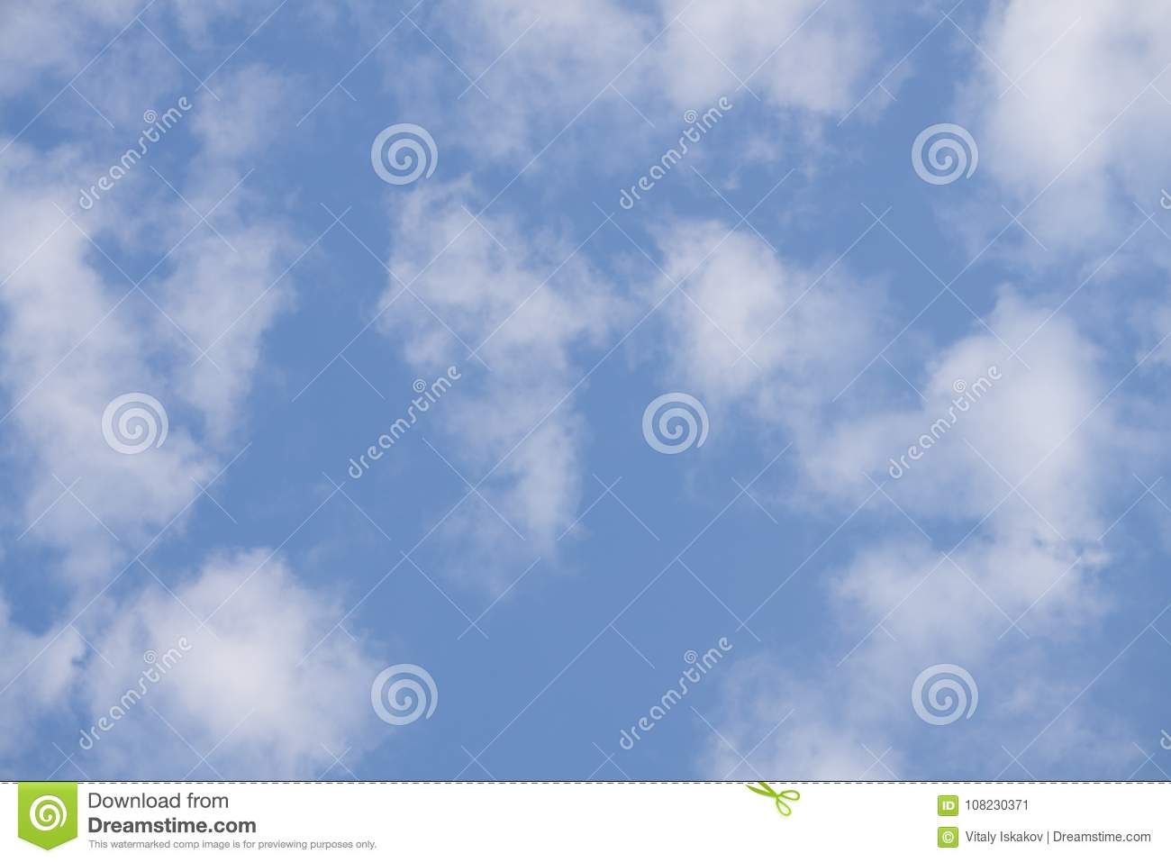 small pieces nimbus clouds in blue sky stock image image of