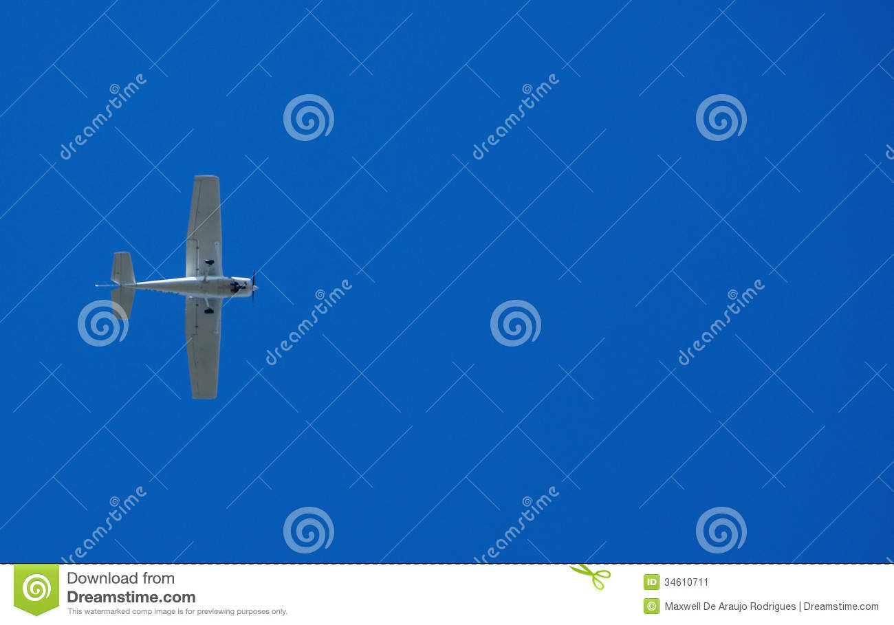 Small plane in the sky
