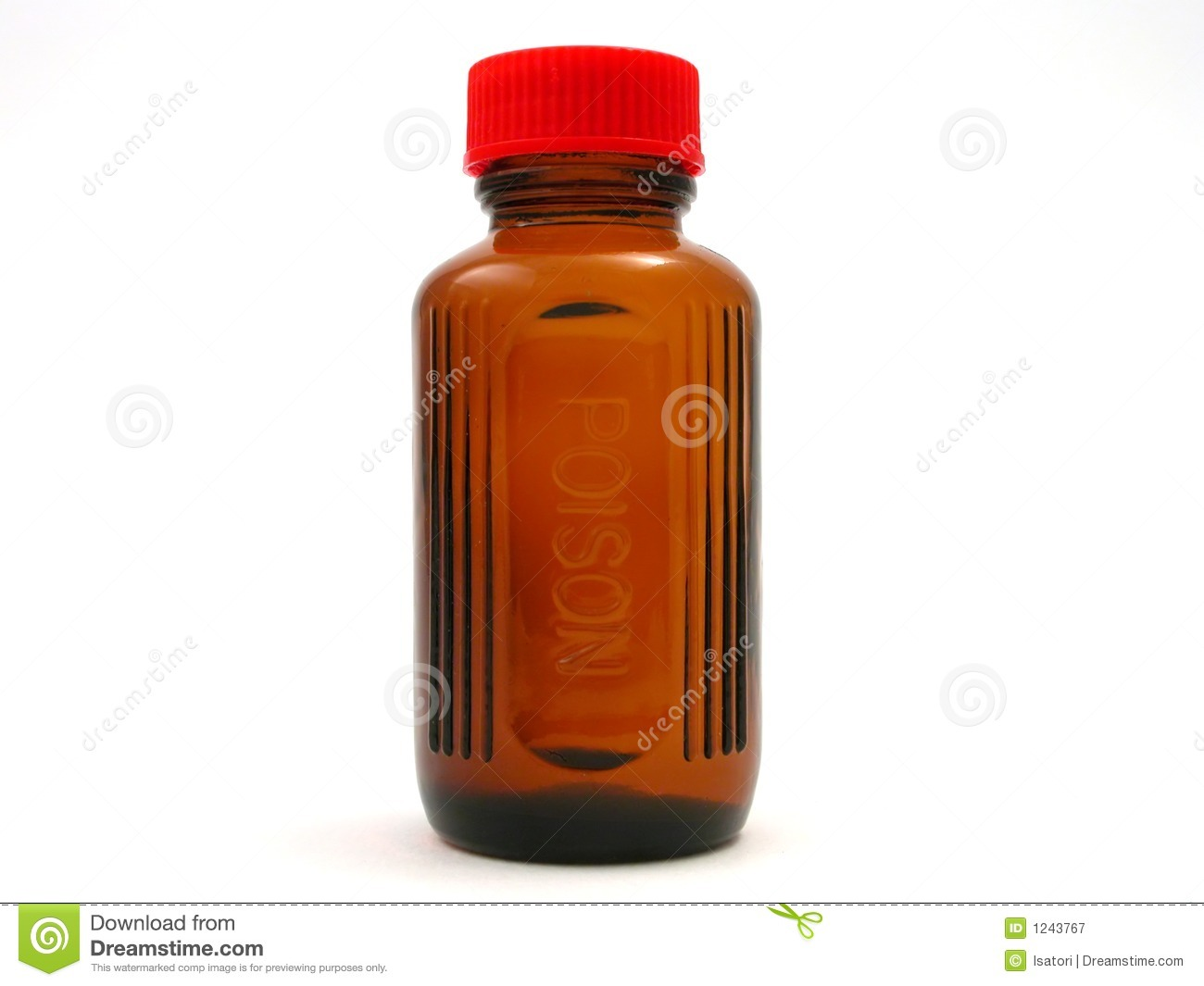 Small Poison Bottle With Red Cap Royalty Free Stock Photography ...