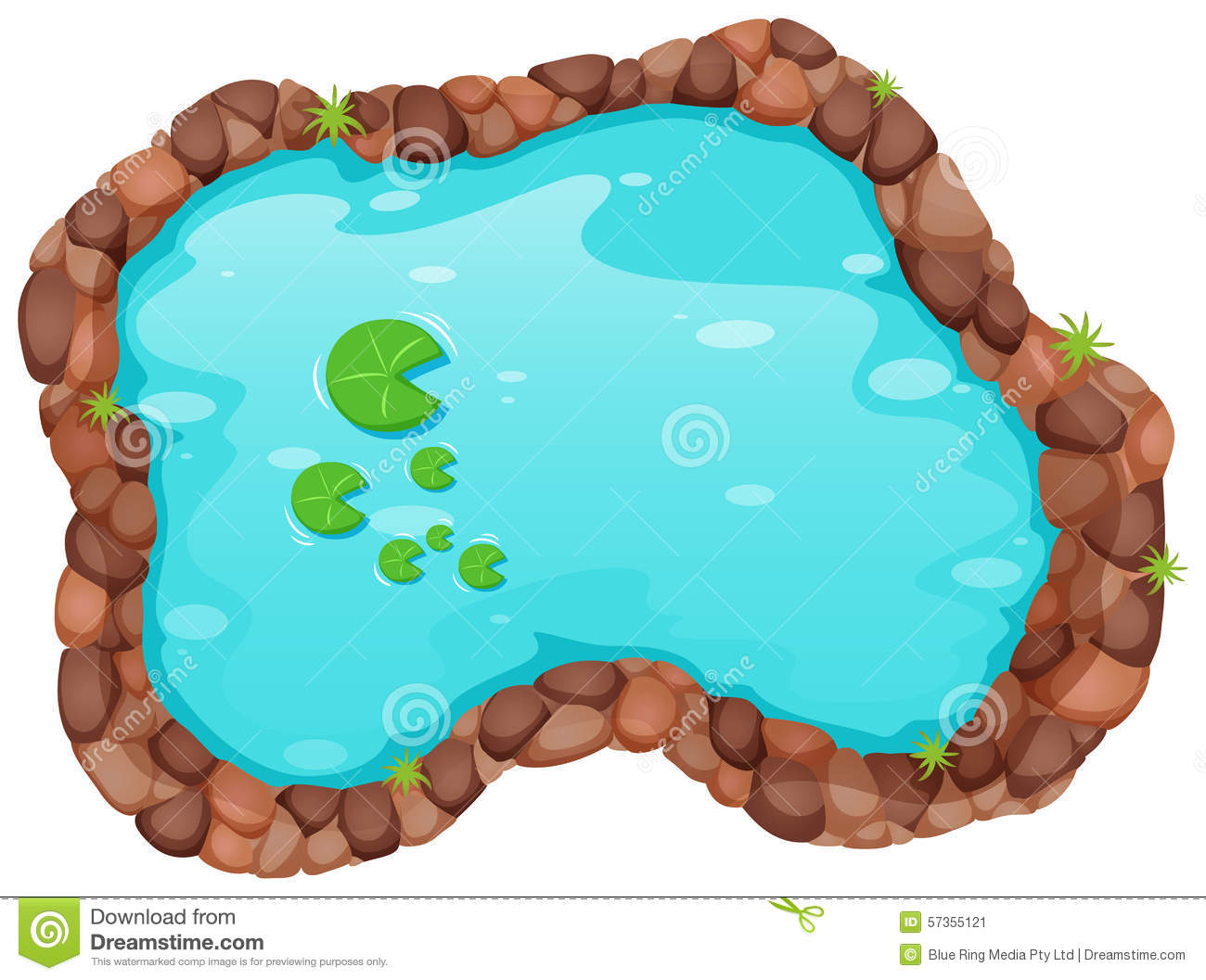Swimming Pool Plan Small Pond Stock Vector Image 57355121