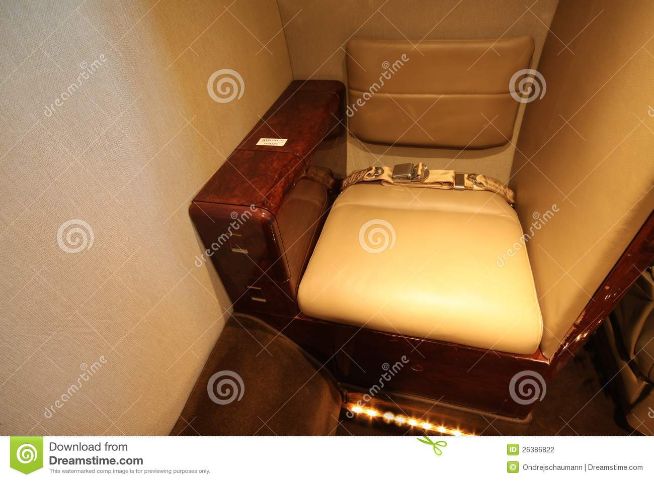 Stock Photography: Small private jet toilet seat
