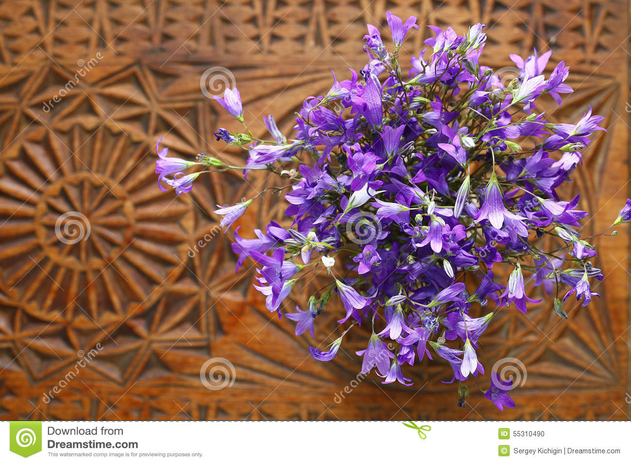 Small Purple Flowers Bouquet Stock Photo - Image of light, bluebell ...