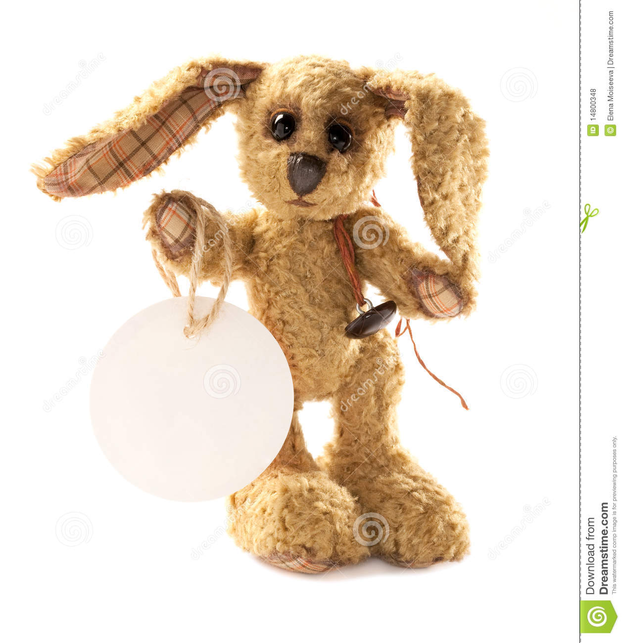 Small Toy Rabbits : Small rabbit bunny soft toy standing royalty free stock